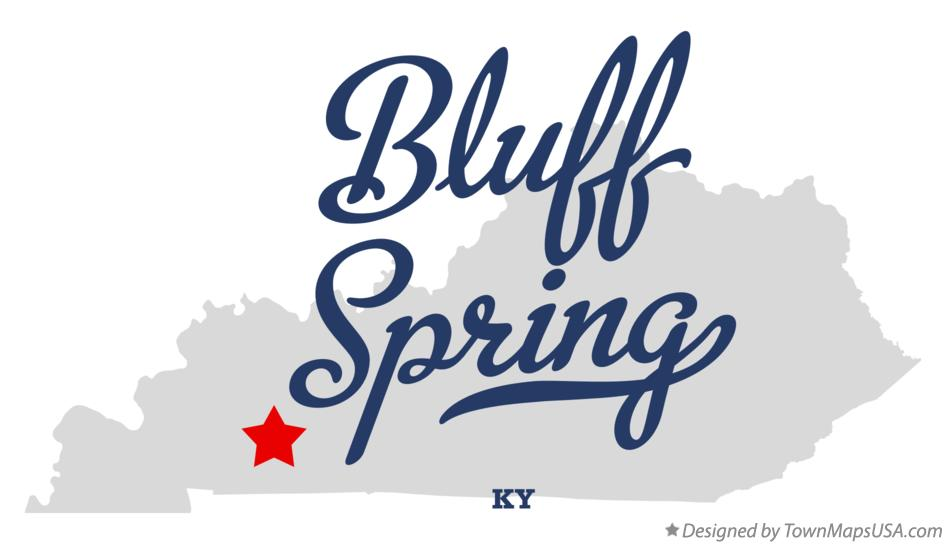 Map of Bluff Spring Kentucky KY