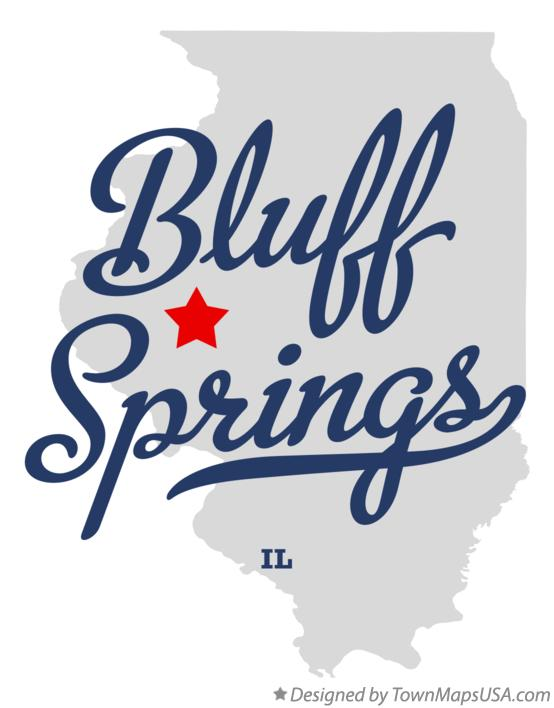 Map of Bluff Springs Illinois IL