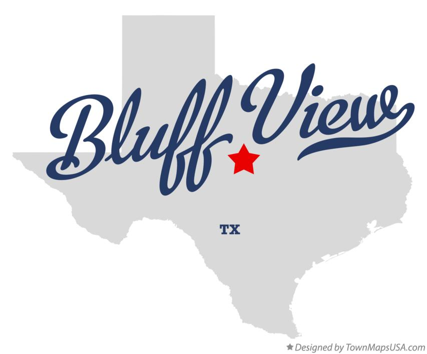 Map of Bluff View Texas TX
