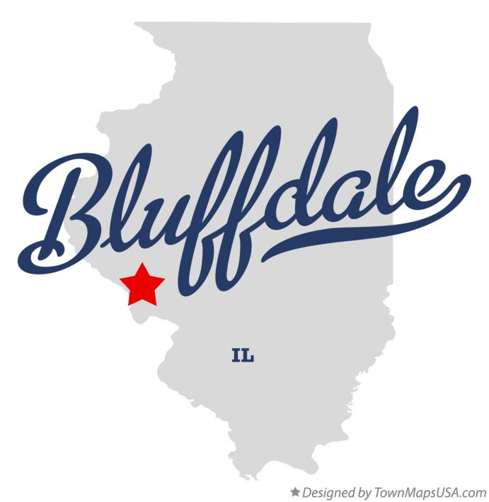 Map of Bluffdale Illinois IL