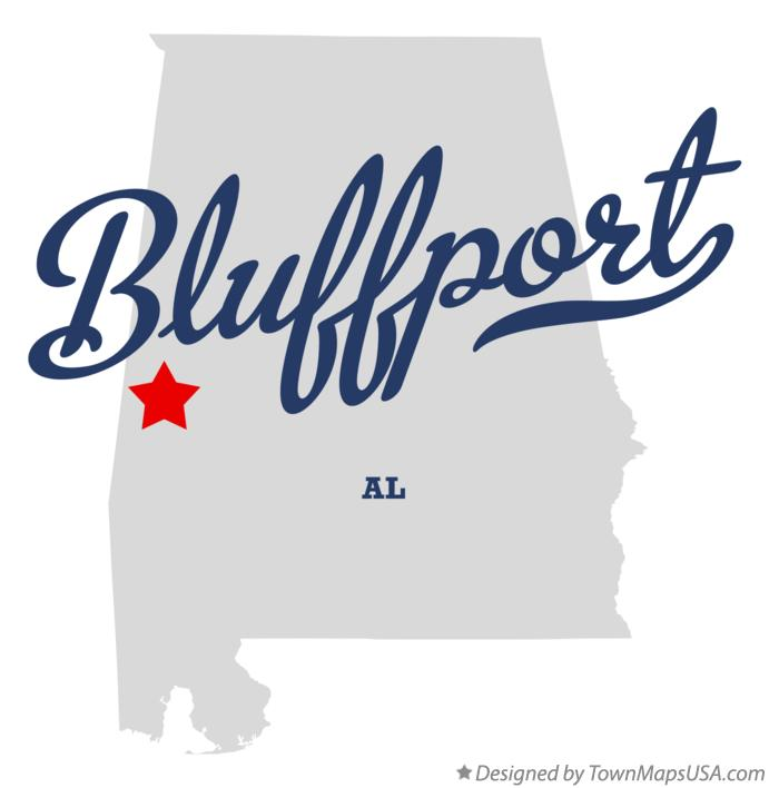 Map of Bluffport Alabama AL