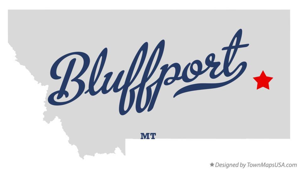 Map of Bluffport Montana MT