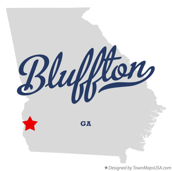 Map of Bluffton Georgia GA
