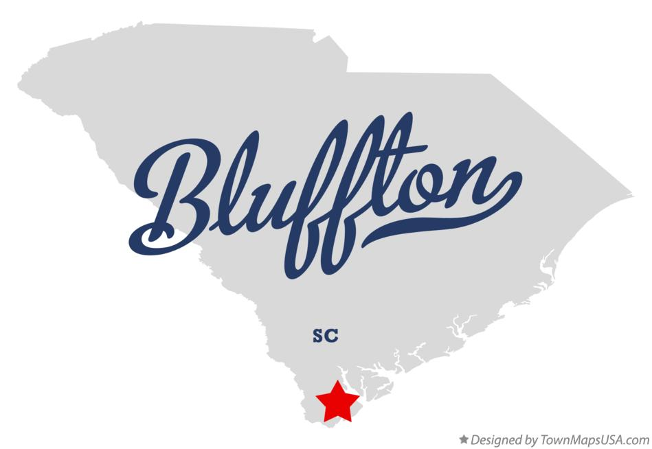 Map of Bluffton South Carolina