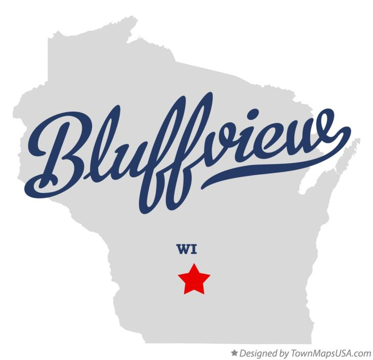 Map of Bluffview Wisconsin WI