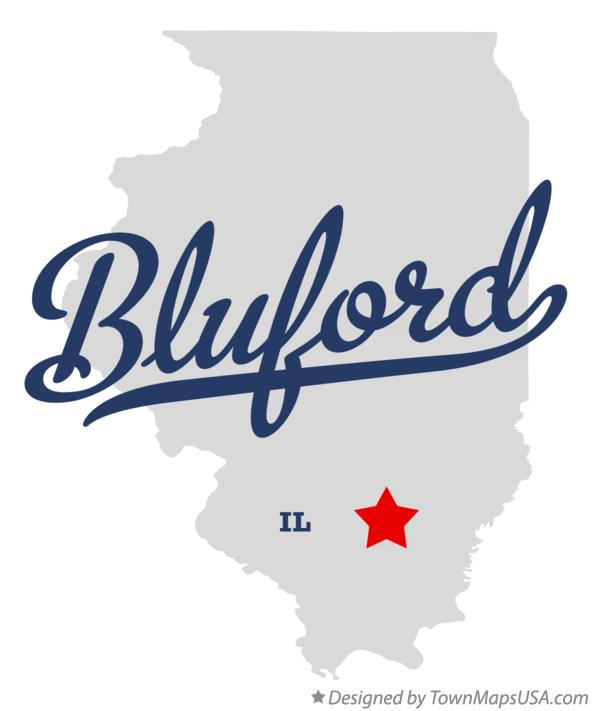 Map of Bluford Illinois IL