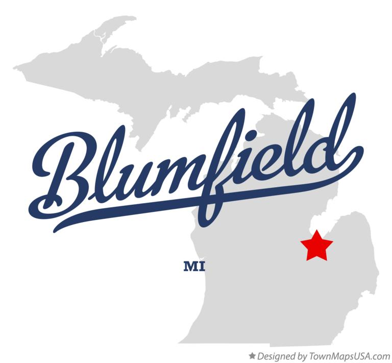 Map of Blumfield Michigan MI