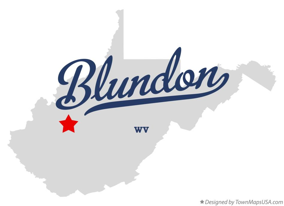 Map of Blundon West Virginia WV