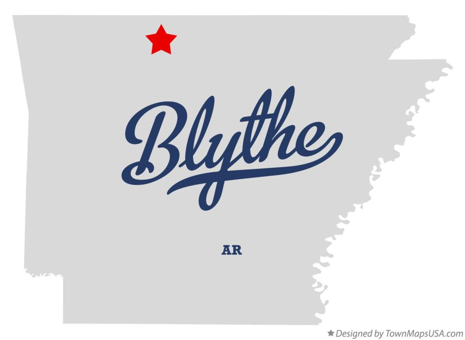 Map of Blythe Arkansas AR