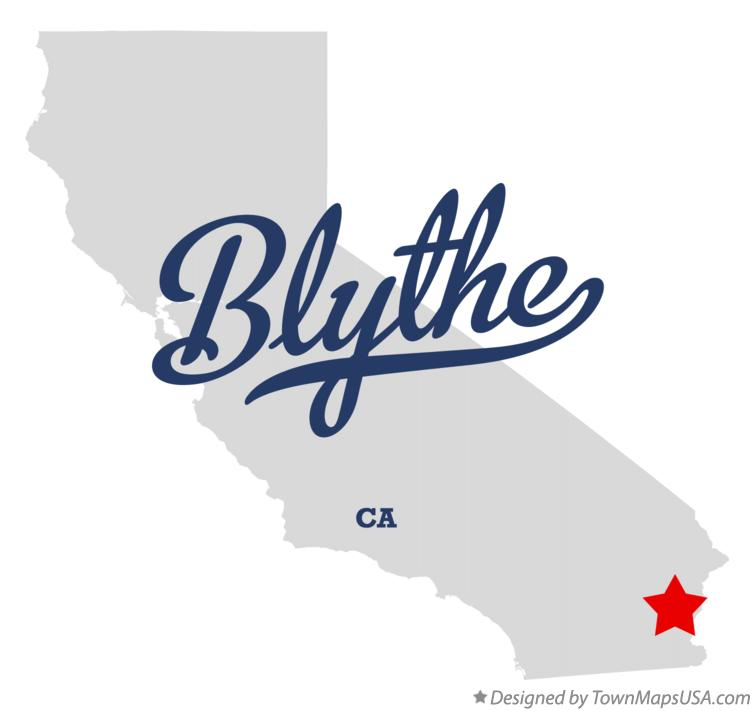 Map Of Blythe Ca California