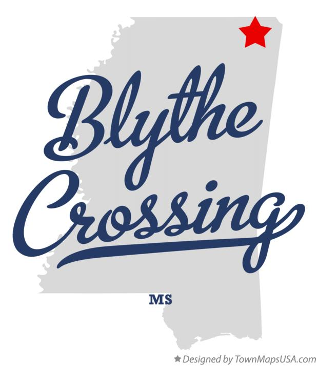 Map of Blythe Crossing Mississippi MS