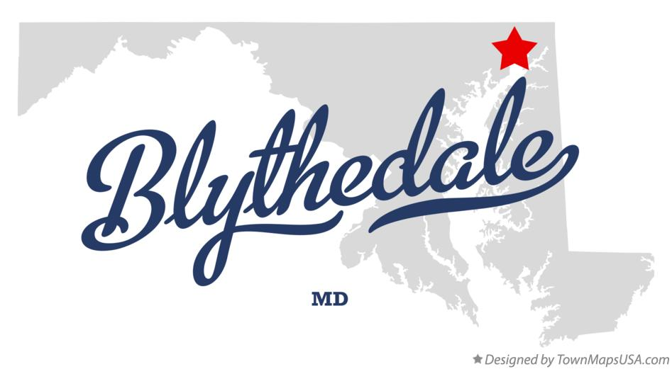 Map of Blythedale Maryland MD