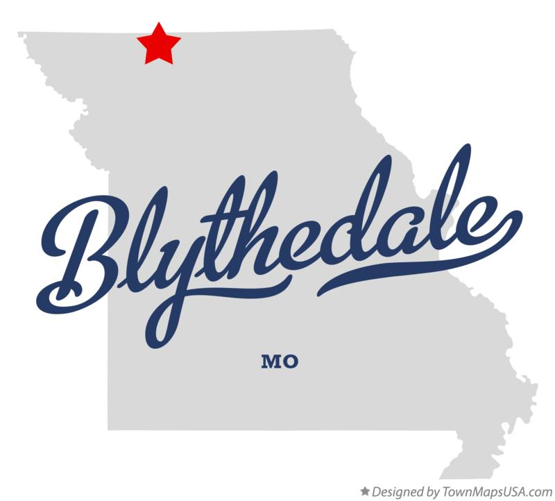 Map of Blythedale Missouri MO
