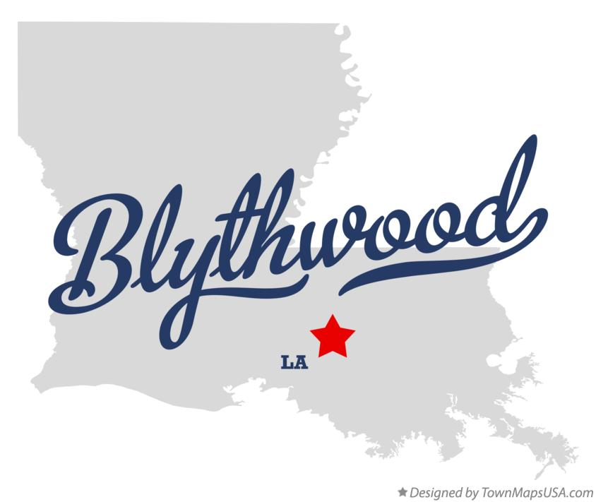Map of Blythwood Louisiana LA