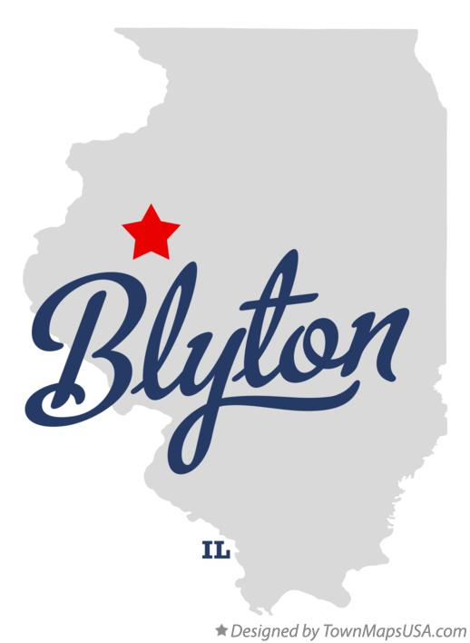 Map of Blyton Illinois IL