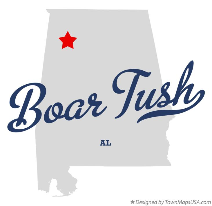 Map of Boar Tush Alabama AL