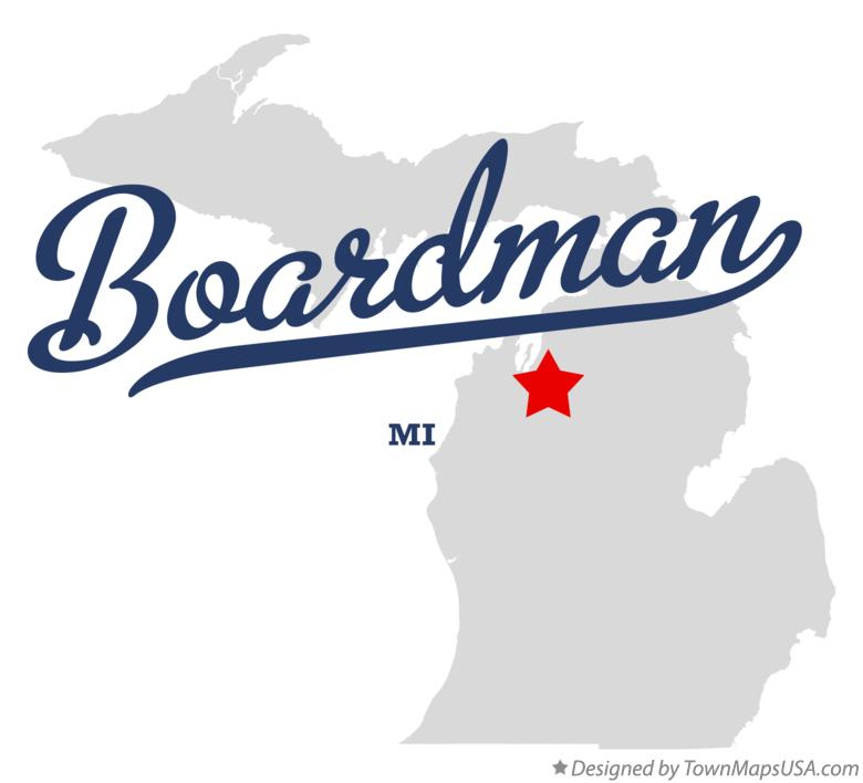 Map of Boardman Michigan MI