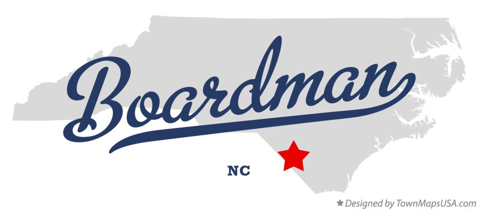 Map of Boardman North Carolina NC