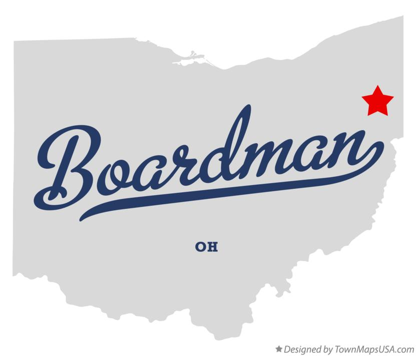 Map of Boardman Ohio OH