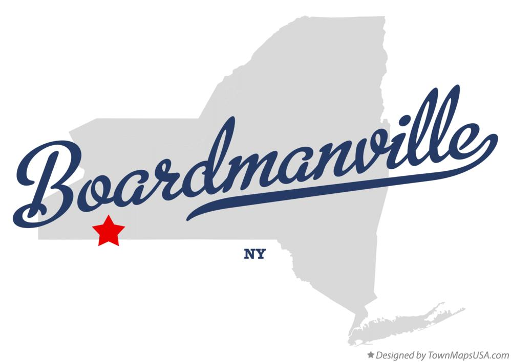 Map of Boardmanville New York NY