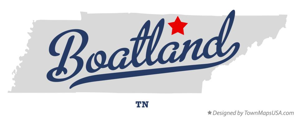 Map of Boatland Tennessee TN