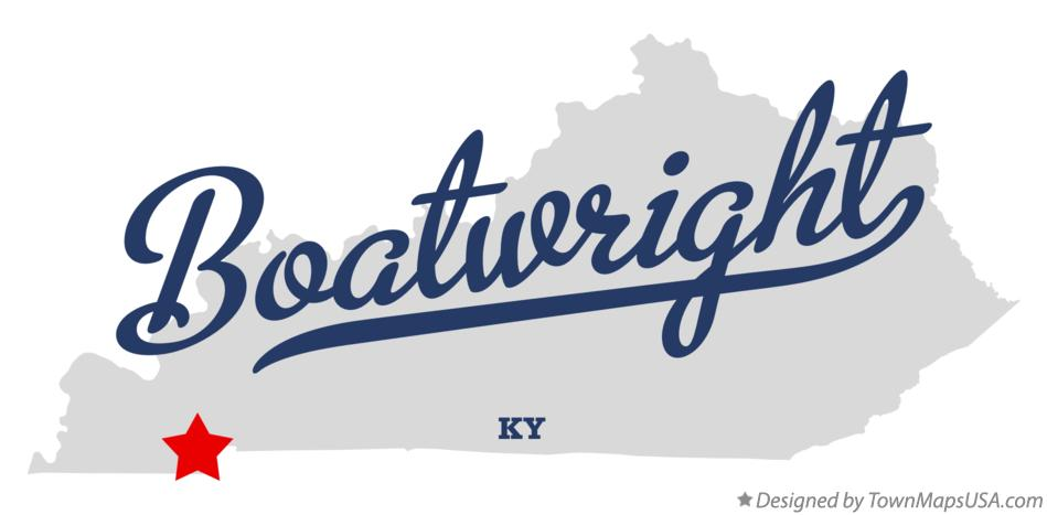 Map of Boatwright Kentucky KY