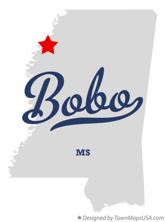Map of Bobo Mississippi MS