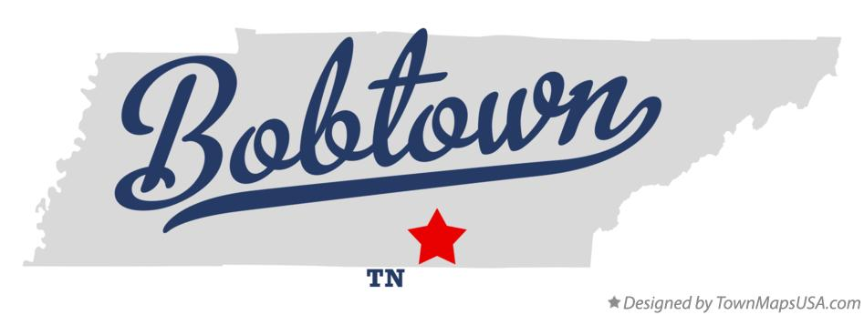 Map of Bobtown Tennessee TN