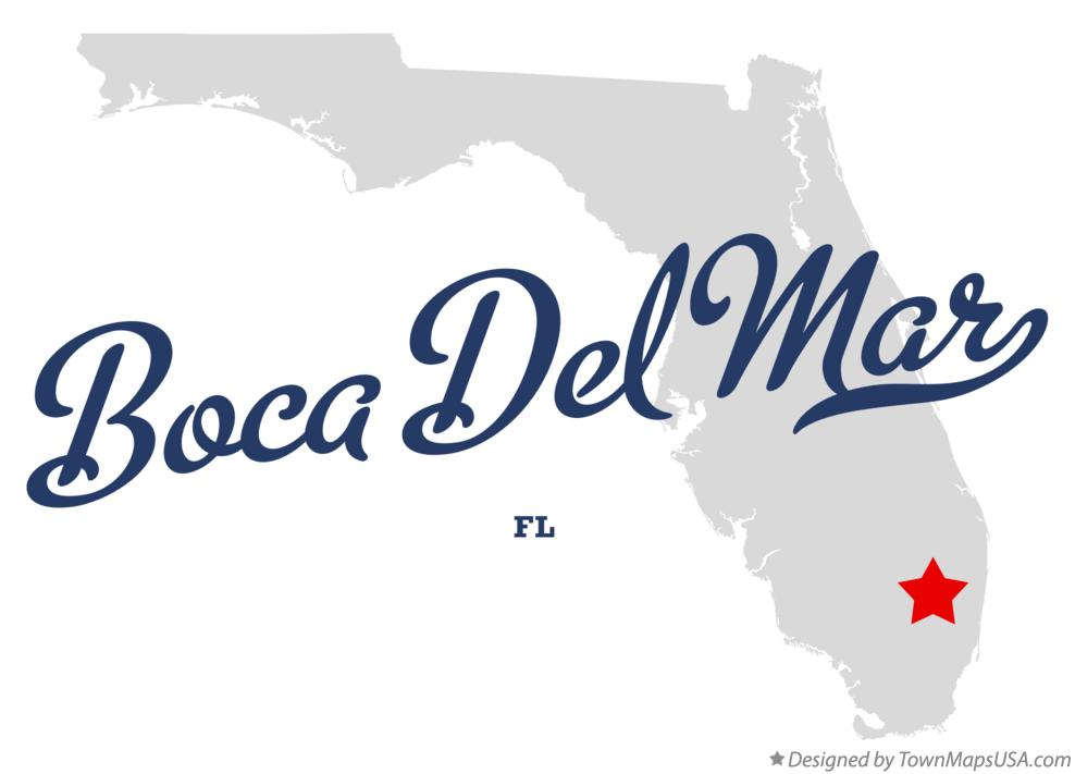 Map of Boca Del Mar Florida FL