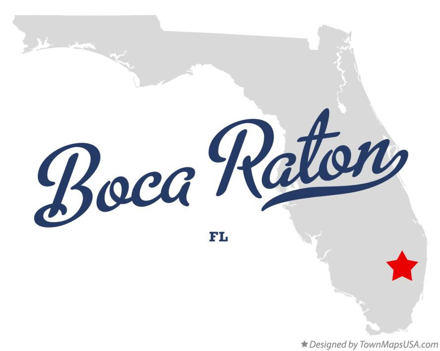 Map Of Boca Raton Fl Florida