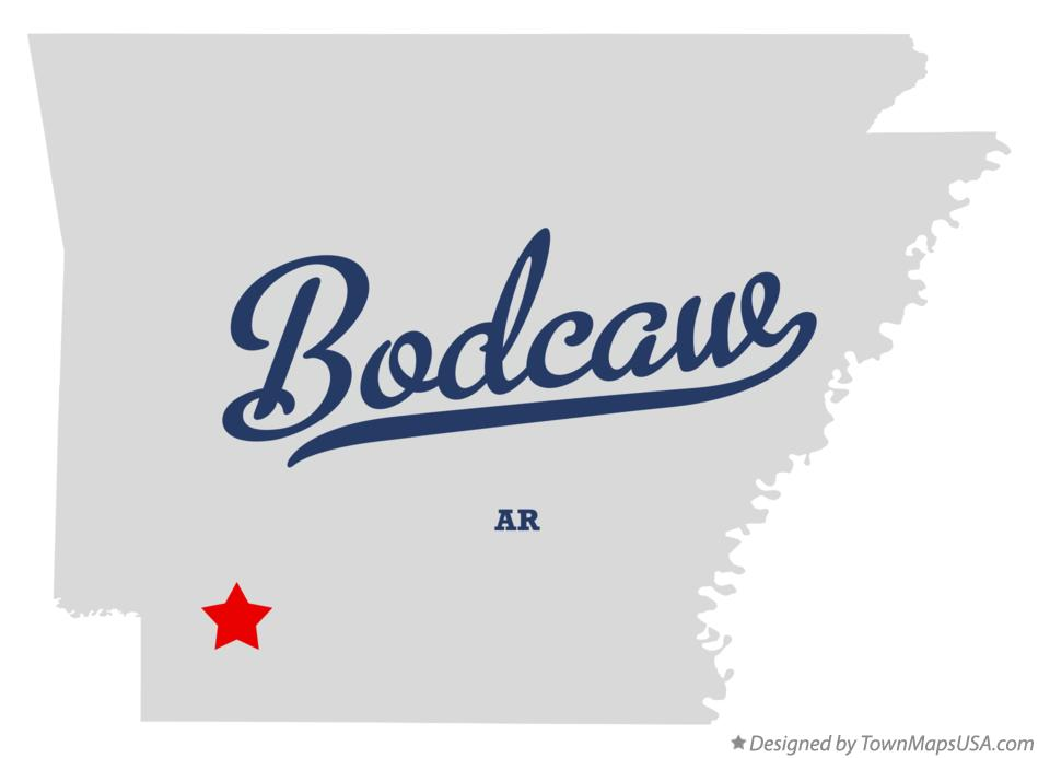 Map of Bodcaw Arkansas AR