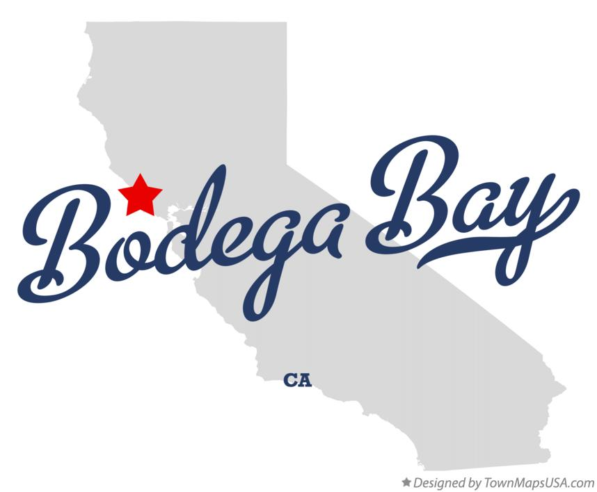 Map of Bodega Bay California CA