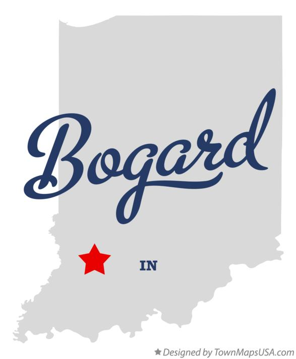 Map of Bogard Indiana IN