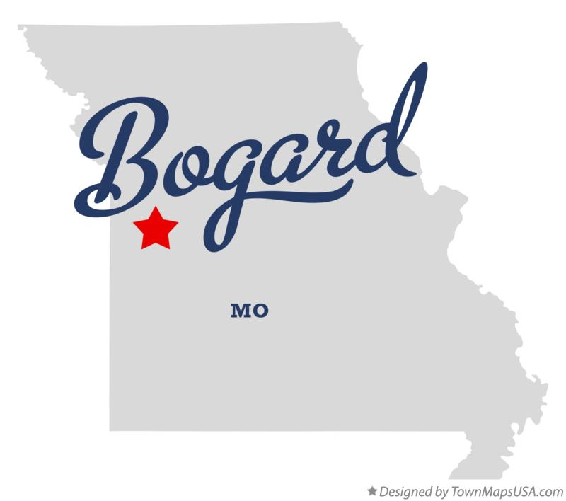 Map of Bogard Missouri MO