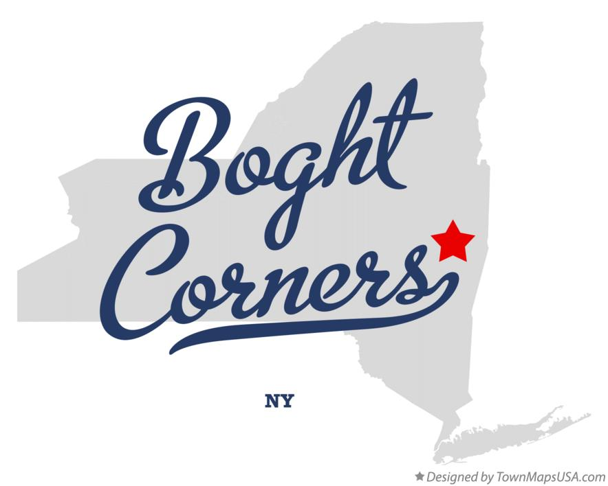 Map of Boght Corners New York NY