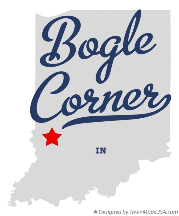 Map of Bogle Corner Indiana IN