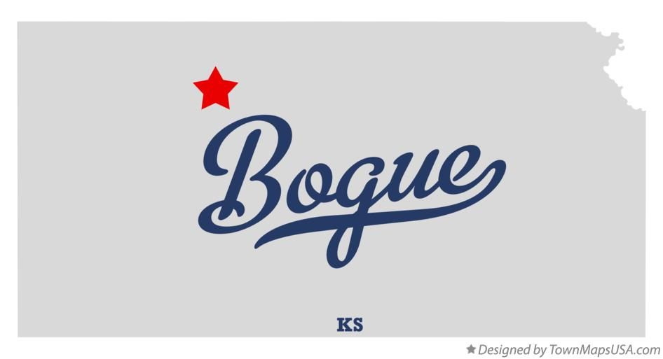 Map of Bogue Kansas KS