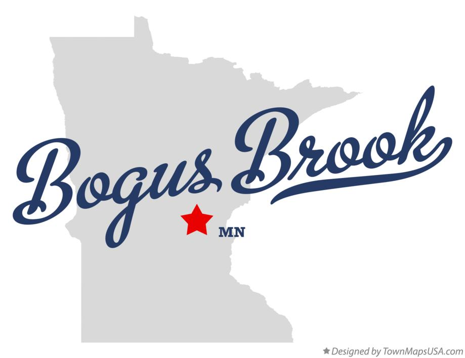 Map of Bogus Brook Minnesota MN