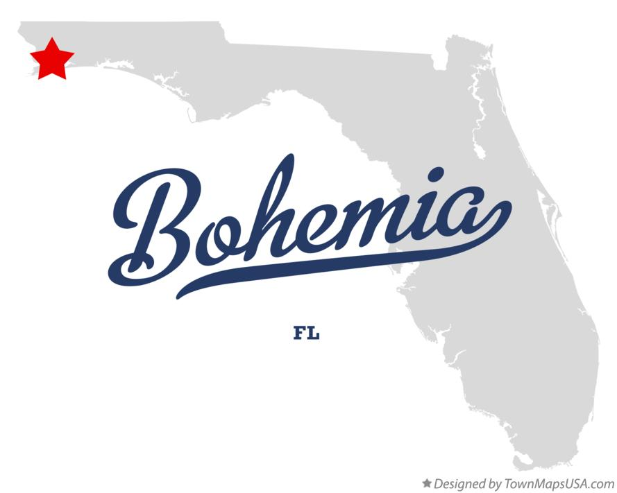 Map of Bohemia Florida FL