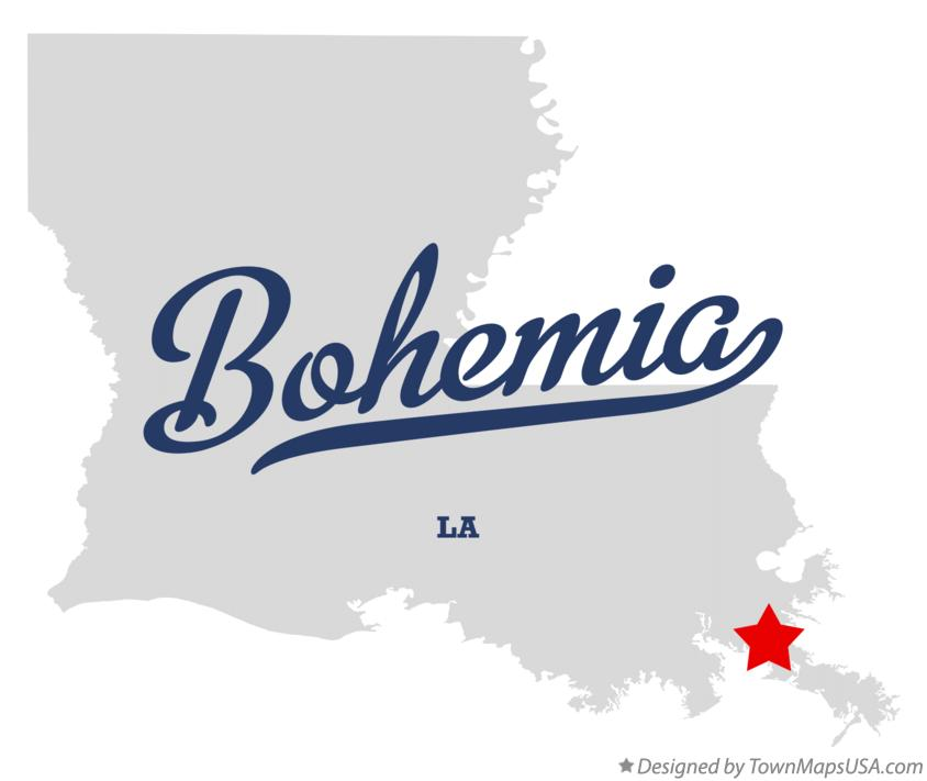 Map of Bohemia Louisiana LA