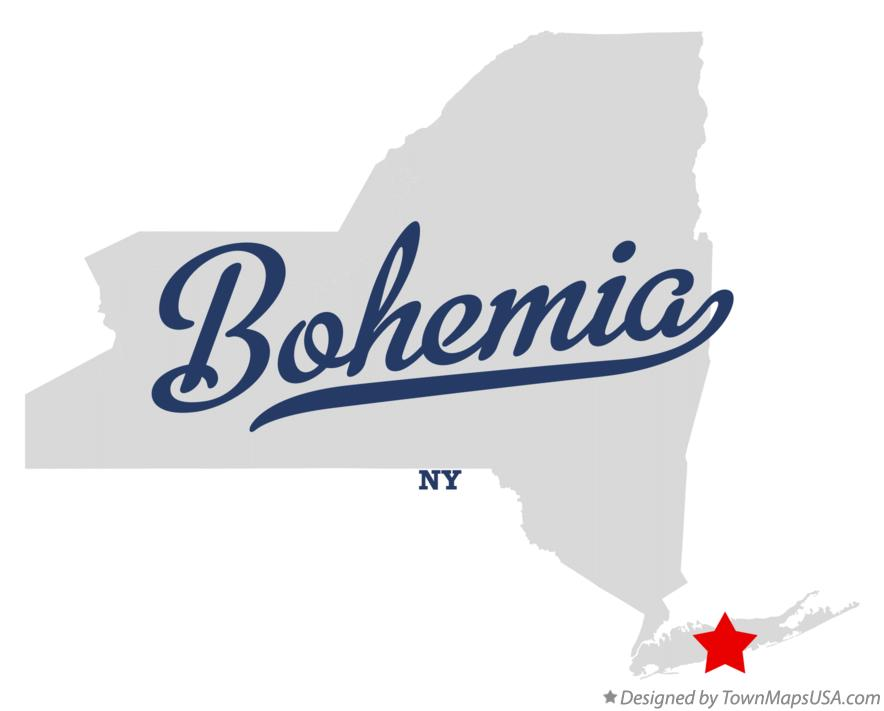Map of Bohemia New York NY