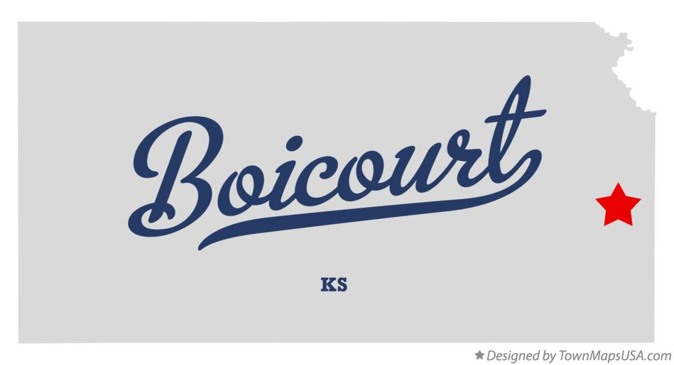 Map of Boicourt Kansas KS