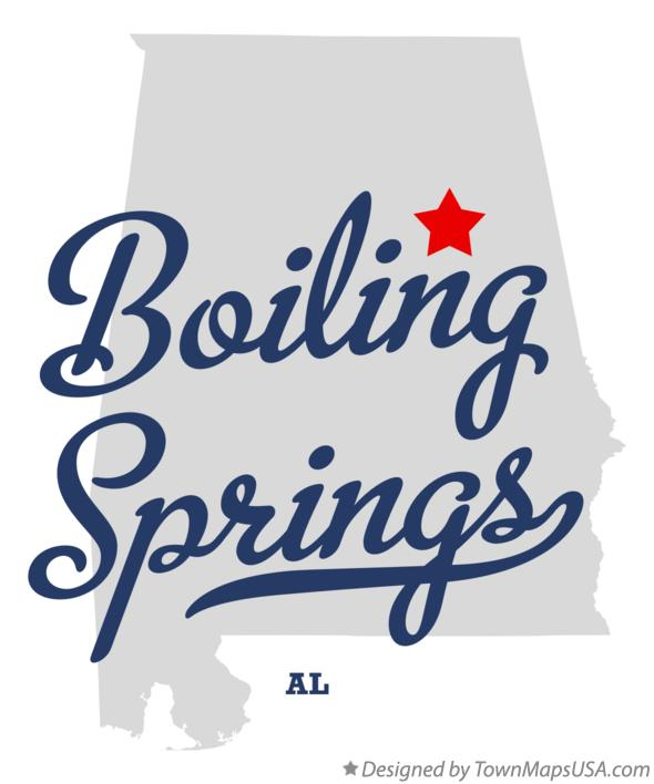 Map of Boiling Springs Alabama AL