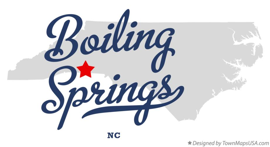 Map of Boiling Springs North Carolina NC