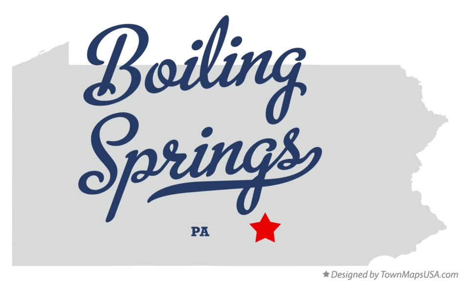 Map of Boiling Springs Pennsylvania PA