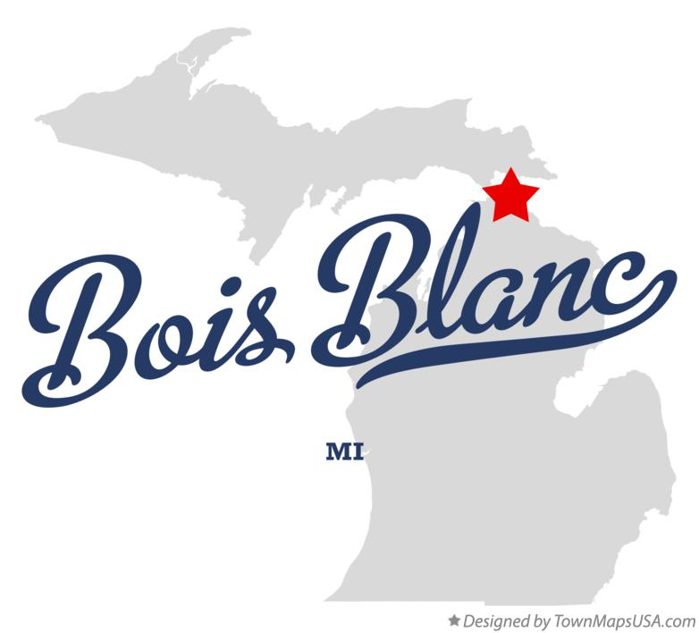 Map of Bois Blanc Michigan MI