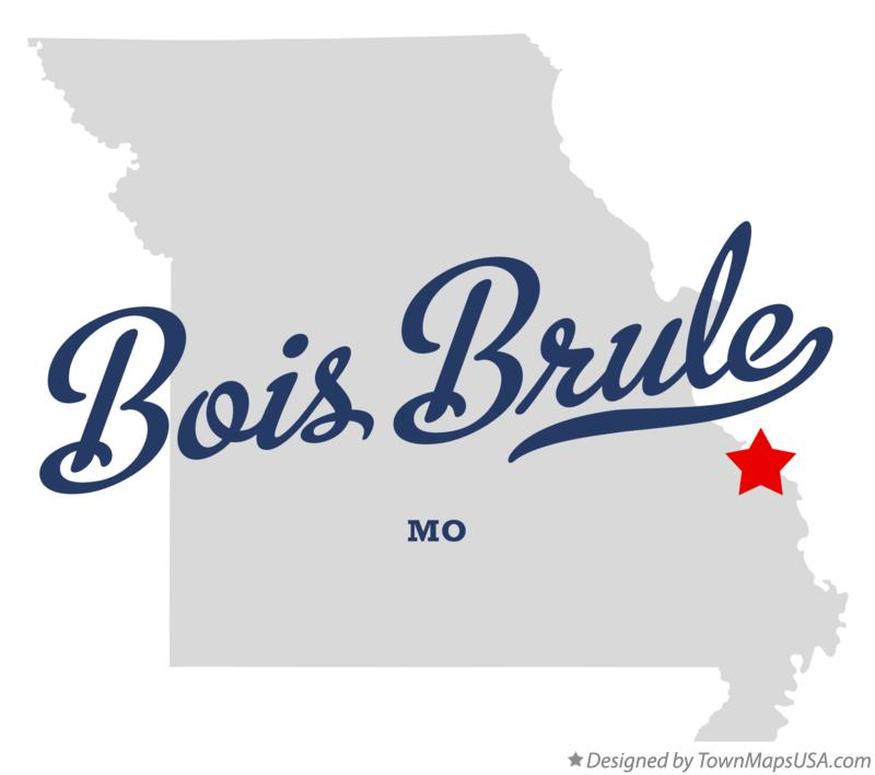 Map of Bois Brule Missouri MO