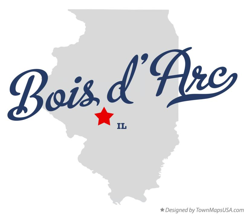 Map of Bois d'Arc Illinois IL