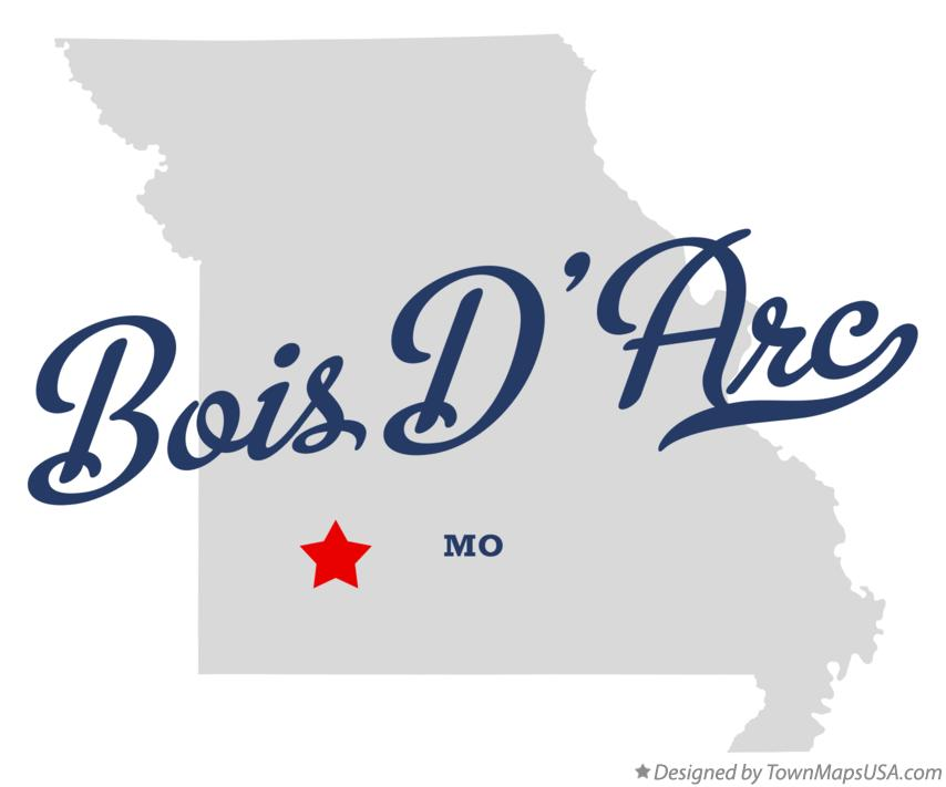 Map of Bois D'Arc Missouri MO