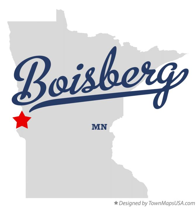 Map of Boisberg Minnesota MN
